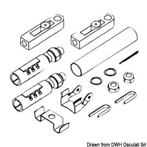 Набор адаптеров для установки тросов дистанционного управления на моторы различных марок