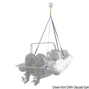 Четырехрычажная подъемная система для яхт и надувных лодок