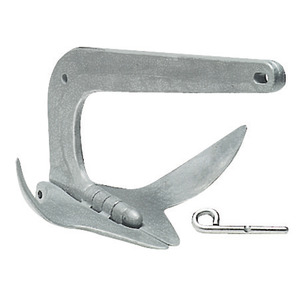 Trefoil® folding grapnel anchor made of hot-galvanized cast steel title=