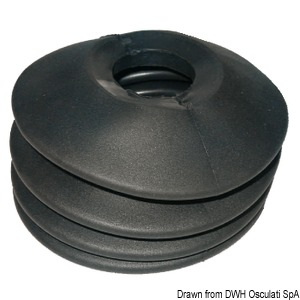 Rubber bellows for tow hook