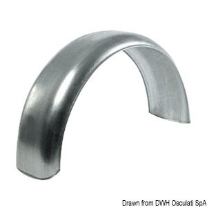 Mudguard for boat trailer wheels title=