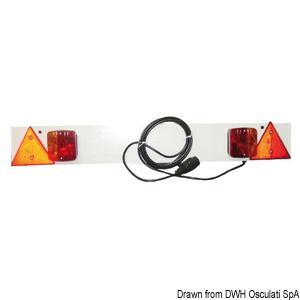 Rear plastic bar with lights title=