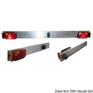 Aluminium bar with lights