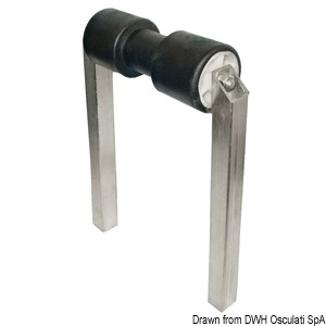 Fixed central roller, double tube