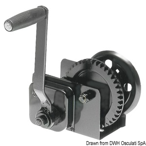 Boat haulage winch with clutch title=