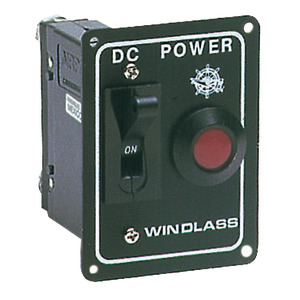 Windlass or bow thruster control panel with safety switch title=