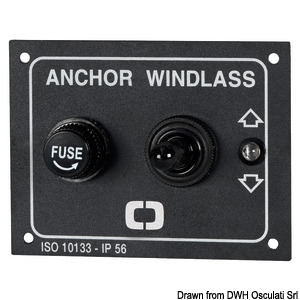 Windlass control panel with spring release title=