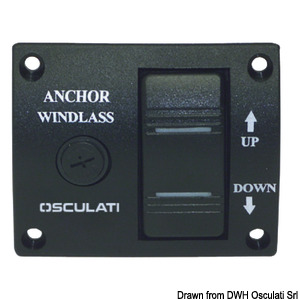 Windlass control panel with toggle switch title=
