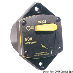 Watertight thermal circuit breaker for windlasses and bow thrusters title=