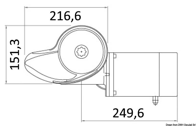 ITALWINCH Smart Plus Ankerwinde 1500W 24V Bootsteile & Zubehör 10 mm tief