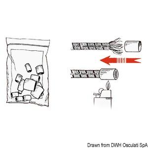 Наконечники пластиковые термоусадочные белые для заделки концов троса