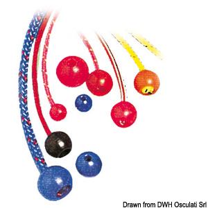Nylon stopper balls, various colours title=
