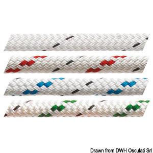 Трос MARLOW Doublebraid белый с сигнальной прядью