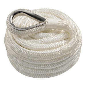 High-strength spliced mooring line, double braid title=
