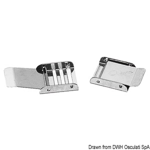 Adjustable stainless steel buckle title=