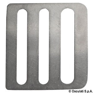 4-bar stainless steel buckle title=