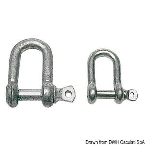 Galvanised steel D-Shackles