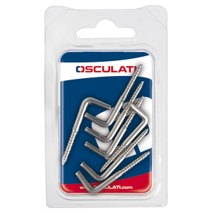 Screw hooks made of stainless steel title=