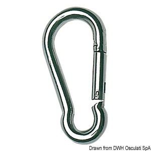 Carbine hooks made of mirror polished AISI 316 stainless steel title=
