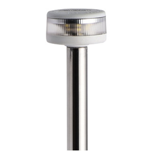 Pole light with EVOLED 360° light - Pull-out version with wall-mounting stainless steel base title=