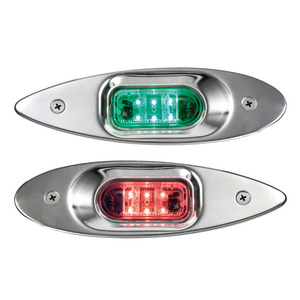Evoled Eye low consumption LED navigation lights made of mirror-polished stainless steel for built-in bulkhead mounting