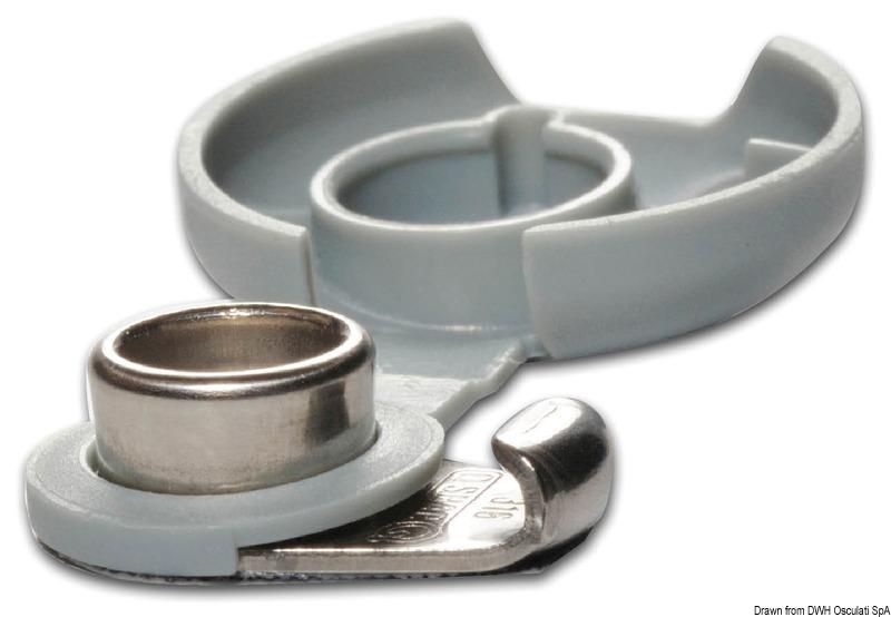10 plastic caps for Q-SNAP snap fasteners