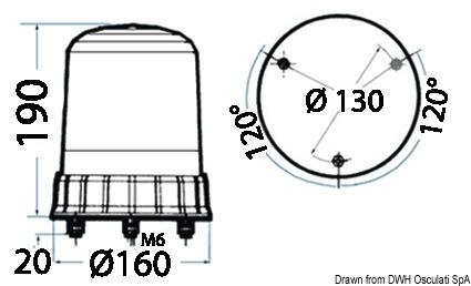 Details about  /Light Colour Blue 24 V Brand Osculati 11.096.24