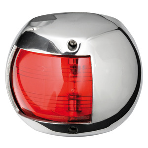 Compact 12 navigation lights made of mirror-polished AISI316 stainless steel title=