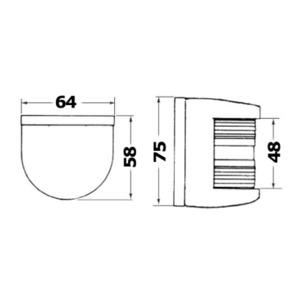 Cartridge bulb 12 V 10 W
