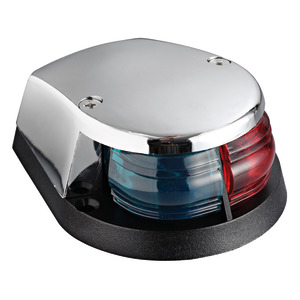 Red/green bow navigation light chromed cap