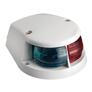 Red/green bow navigation light white cap