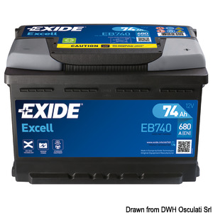EXIDE Excell starting batteries title=