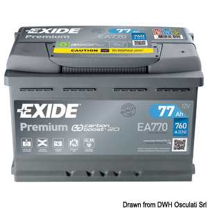 EXIDE Premium Dual Purpose batteries (engine start and domestic system use) title=