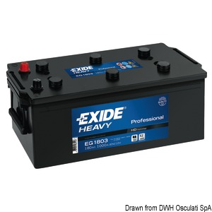 EXIDE Professional batteries for starting and onboard services title=