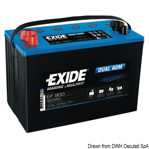 EXIDE Agm batteries for services and starting