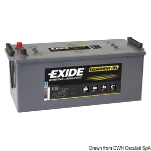 EXIDE Gel batteries for services and starting title=