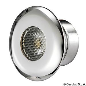 Metal spotlights and ceiling lights
