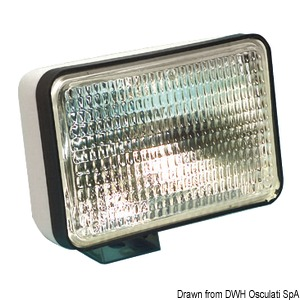 Sealed Beam watertight light with watertight halogen optic bulb