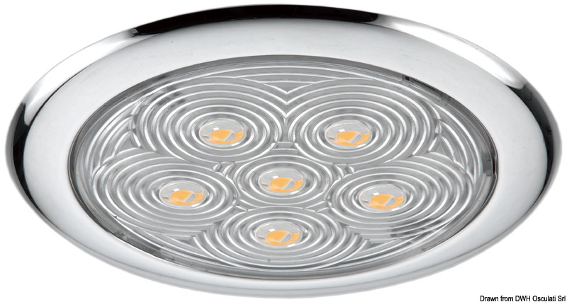 Plafoniera 6 led luce bianca for Led luce bianca