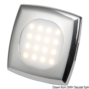 Square LED ceiling light for recess mounting