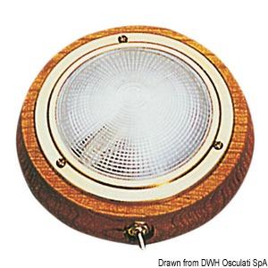 Plafon z drewna tekowego do montażu powierzchniowego