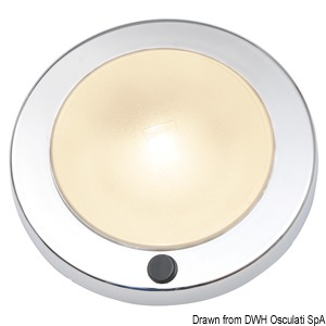 Saturn recesless ceiling light white ABS