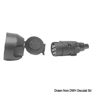 Plugs and sockets for boat trailers