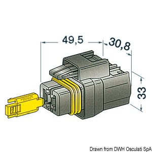 Watertight connectors for cables up to 10 mm2