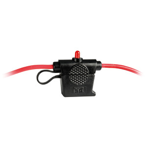 Fuse holder with warning LED, watertight model title=