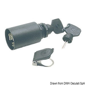Watertight ignition key IP65 title=
