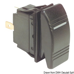 Marina R toggle switch, IP56 watertight title=