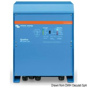 Kombinirani sistem VICTRON Quattro -  Punjač akumulatora + Inverter title=