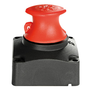 Battery switch, flat-mounting model without recess fitting title=