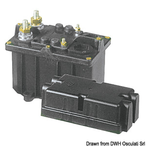 Automatic unipolar battery switch$(general power remote control switch with separate coil feed)